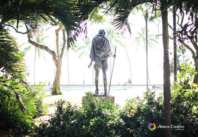 銅像 #9 ガンジー像 @ Waikiki