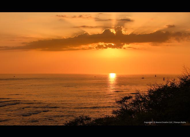 VOGの日の夕陽 #1 @ ダイヤモンドヘッド